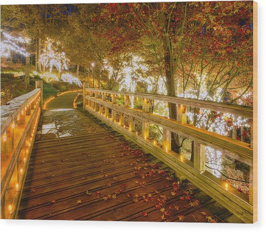 Golden Bridge Wood Print