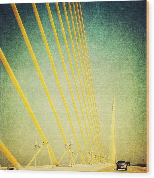 Golden Cables Wood Print by Beth Williams