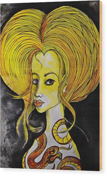 Golden Core Wood Print