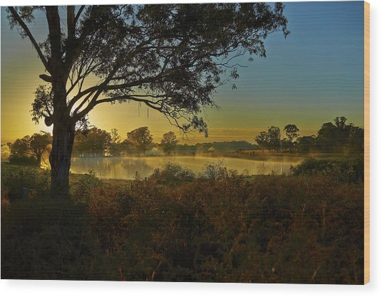 Billabong Sunrise Wood Print