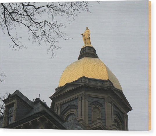 Golden Dome Nd 2 Wood Print