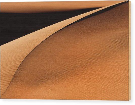 Golden Dunes Wood Print by Jure Kravanja