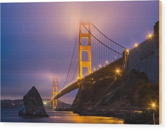 Golden Gate Beauty Wood Print