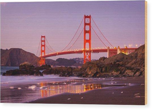 Golden Gate Bridge From Baker Beach Wood Print