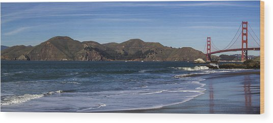 Golden Gate Bridge Panorama Wood Print by Brad Scott