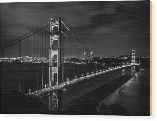 Golden Gate Evening- Mono Wood Print