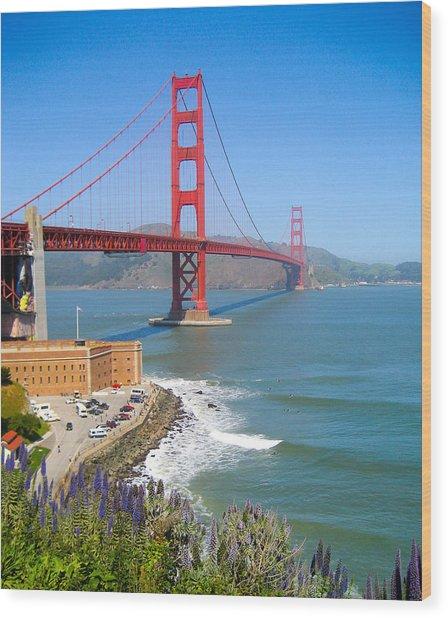 Golden Gate Wildflowers Wood Print