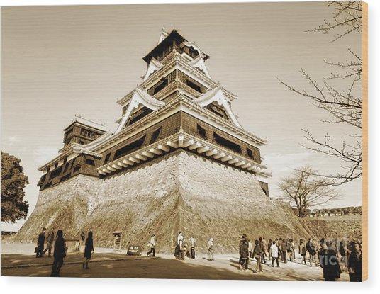 Golden Glow - Kumamoto Castle - Kyushu - Japan Wood Print