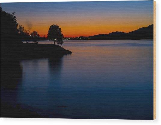 Golden Horizon Wood Print