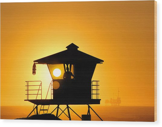 Golden Hour Wood Print