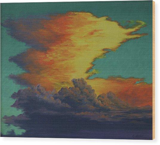 Golden Monsoon Wood Print