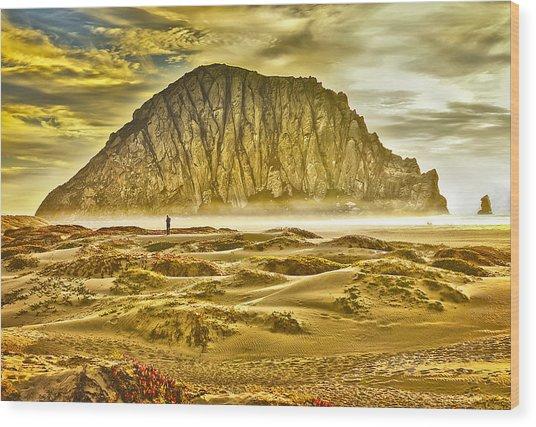 Golden Morro Bay Wood Print