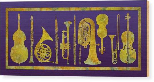 Golden Orchestra Wood Print