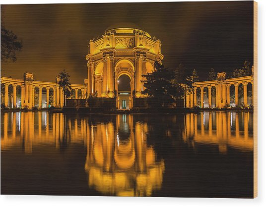 Golden Palace Wood Print