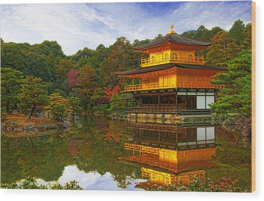 Golden Pavilion Wood Print