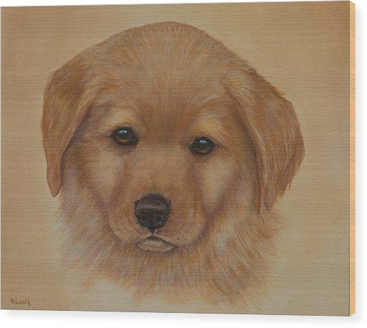 Golden Puppy Wood Print