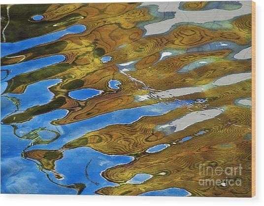 Golden Reflection Wood Print
