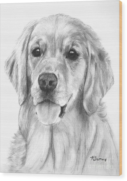 Golden Retriever Jessie Adult Wood Print