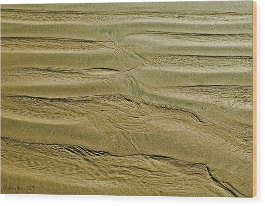 Golden Sand 5 Wood Print