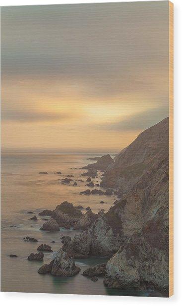 Golden Seashore Wood Print