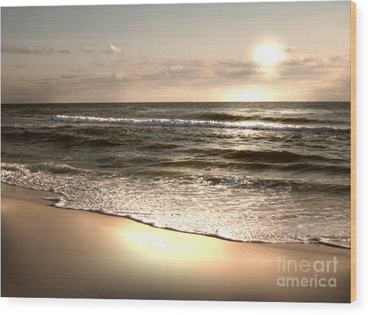 Golden Shoreline Wood Print by Jeffery Fagan