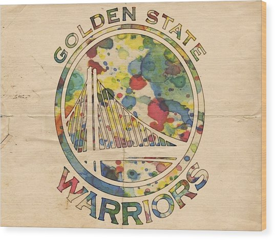 Golden State Warriors Logo Art Wood Print