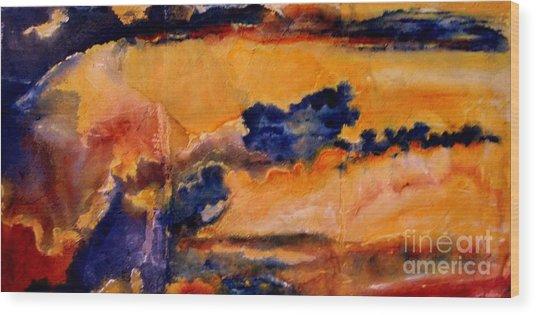 Golden Sunset Wood Print by Julia  Walsh