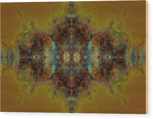 Golden Tapestry Wood Print