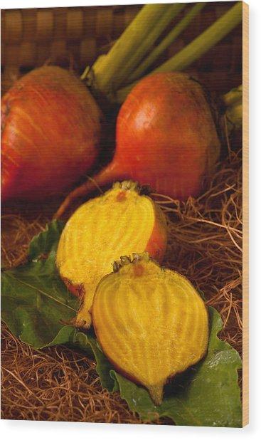 Golden Turnips Wood Print