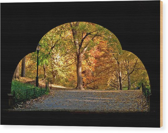 Golden Underpass Wood Print