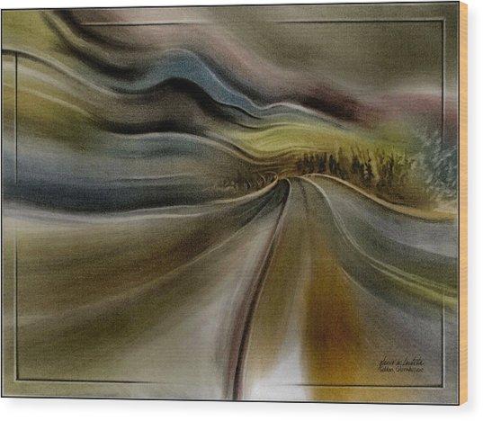 Goldencoroadscapeb'10 Wood Print