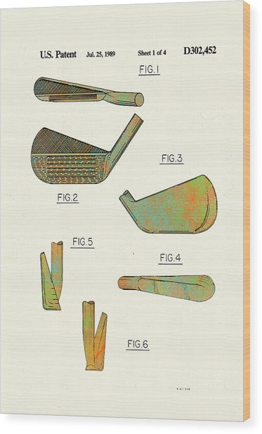 Golf Club Patent-1989 Wood Print