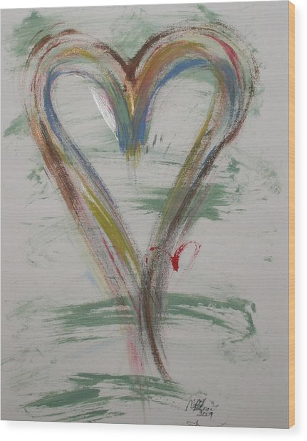 Golf Heart Wood Print