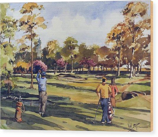 Golf In Ireland Wood Print