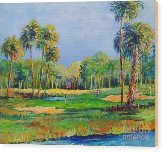 Golf In The Tropics Wood Print