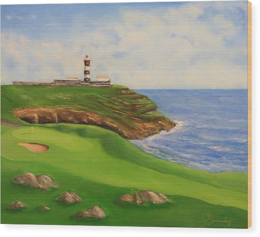 Golf Old Head Of Kinsale Wood Print by Jacob Browning