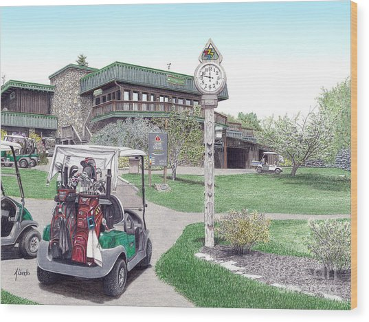 Golf Seven Springs Mountain Resort Wood Print