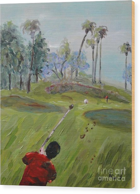 Golfing At Monarch Wood Print
