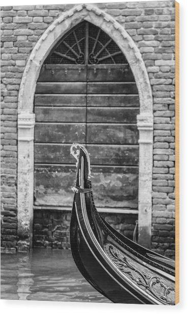 Gondola Detail Wood Print