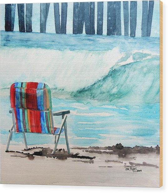Gone Swimmin' Wood Print