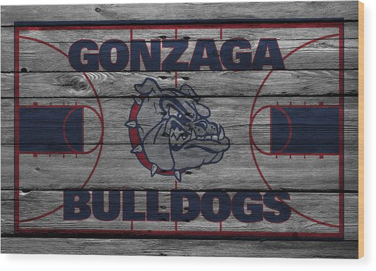 Gonzaga Bulldogs Wood Print
