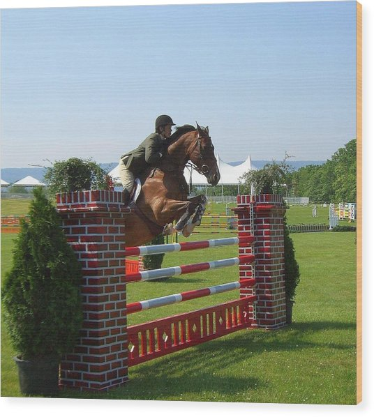 good form at Upperville Wood Print
