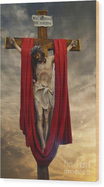 His Ultimate Gift Of Mercy - Jesus Christ Wood Print