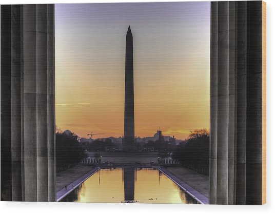 Good Morning America Wood Print