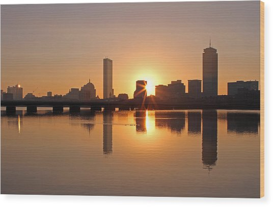 Good Morning Boston Wood Print by Juergen Roth