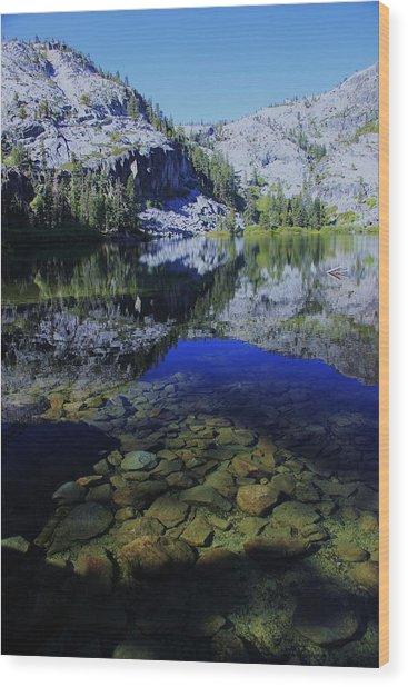 Good Morning Eagle Lake Wood Print