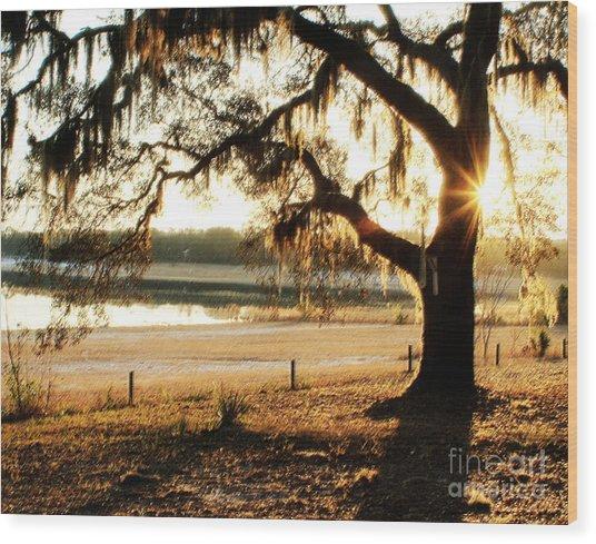 Good Morning Mossy Oak Wood Print