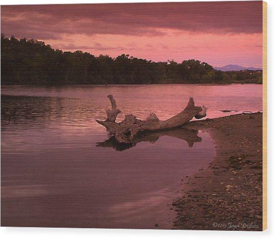 Good Morning Sacramento River Wood Print