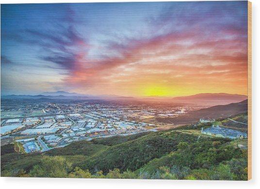 Good Morning Temecula Wood Print