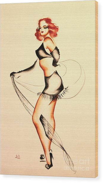 Good Night Ladies Dancer Wood Print